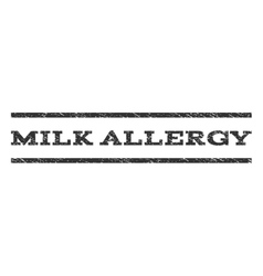 Milk Allergy Watermark Stamp vector