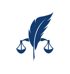 notary law logo vector image