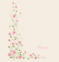 Pink rose flower vector