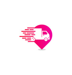 Point delivery logo icon design vector