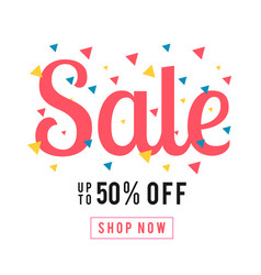 sale up to 50 off shop now colorful ribbon backgr vector image