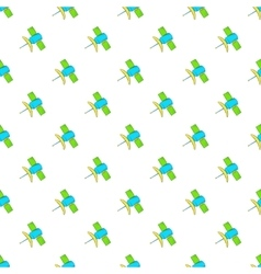 Satellite pattern cartoon style vector image