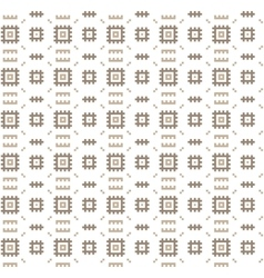 Seamless geometric pattern regular tiled ornament vector