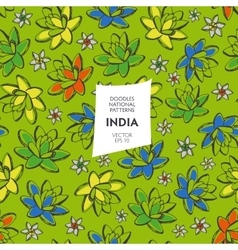 Seamless pattern of tourist attractions of India vector