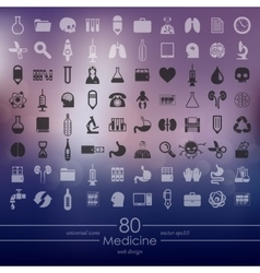 Set of medicine icons vector image