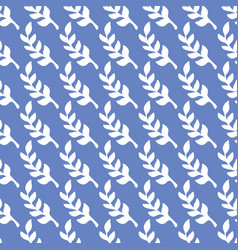 Simple foliage repeat pattern design blue vector