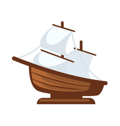 Small sailboat figurine vector