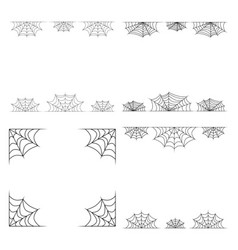 spiderweb frame border divider isolated on white vector image