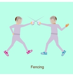 Sport people activities icon Fencing vector