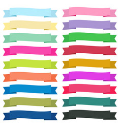 Sweet color ribbon banners on white background vector