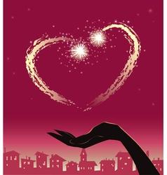 valentine fireworks vector image