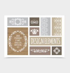 vintage design elements composition vector image