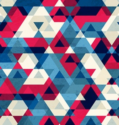 Vintage triangle seamless pattern vector