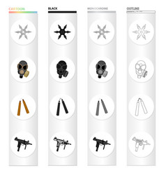 War army armament and other web icon in cartoon vector