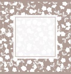 white flower banner on light brown background vector image