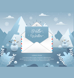 Winter season with email vector