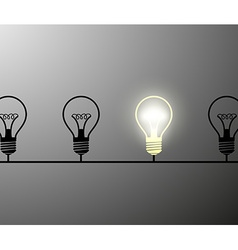 incandescent lamps Stock vector image
