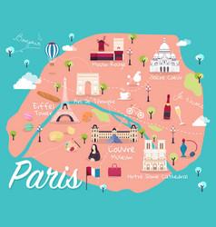 map of paris vector image vector image