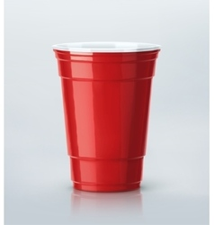Red Party Cup vector image vector image