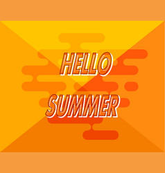 abstract yellow background with hello summer vector image