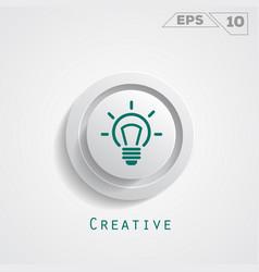 Lamp creative circle icon vector