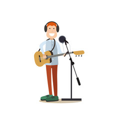 radio people in flat style vector image vector image