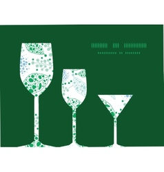 abstract blue and green leaves three wine vector image vector image