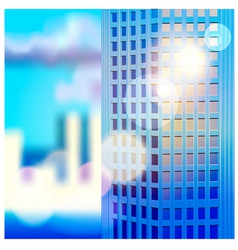 dawn and skyscraper vector image vector image