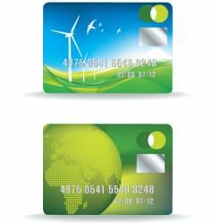 eco credit card vector image