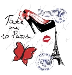 for french design vector image vector image