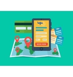 Online ticket booking vector image