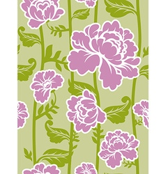 Pink roses background Seamless pattern of flowers vector image