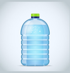 realistic large bottle with clean blue water vector image