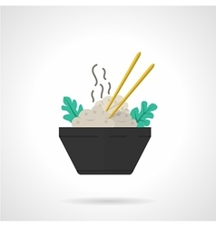 Rice bowl flat icon vector image