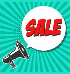 sale vintage megaphone with speech bubble design vector image