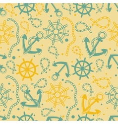 Seamless pattern with white anchors vector image vector image