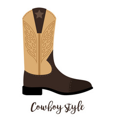 shoes with text cowboy style vector image