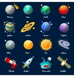 Space Universe Icon Set vector image