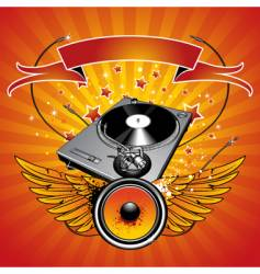 Turntable vector image