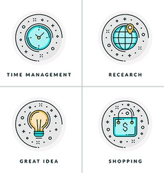 a set of four icons on business issues vector image