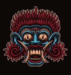 A traditional indonesian mask barong vector