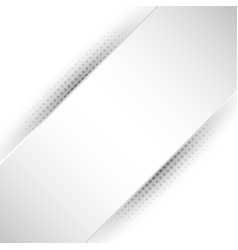 Abstract white and gray stripe diagonal vector