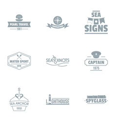 Activity of water logo set simple style vector