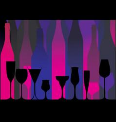 Alcoholic bar menu pink vector