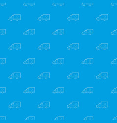 ambulance pattern seamless blue vector image