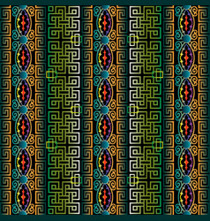 ancient greek seamless pattern of antique borders vector image
