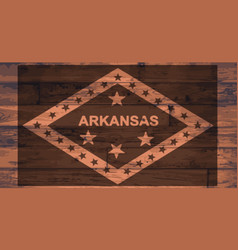 Arkansas flag brand vector
