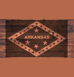arkansas flag brand vector image