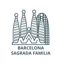 Barcelonasagrada familia line icon vector