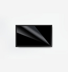 black led tv television screen blank on wall vector image